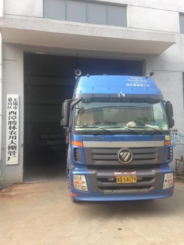 山东工地的蔬菜大棚装车发货了!!!