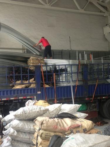 湖南工地温室大棚装车发货现场